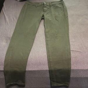 Olive green jean leggings